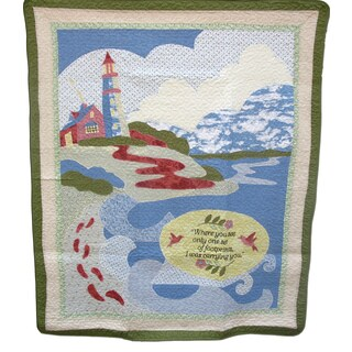 Guiding Footprints 100-percent Cotton Throw Blanket