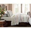 Bella Ruffle Button Closure Cotton 3-piece Duvet Cover Set