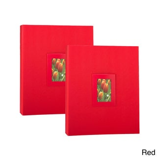 Kleer-Vu Floramma Embossed Paper Photo Albums (Pack of 2)