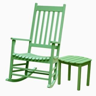 Moss 2-piece Porch Rocker/ Side Table Set