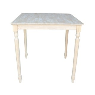 Unfinished Square 36-inch Counter Height Turned Leg Dining Table