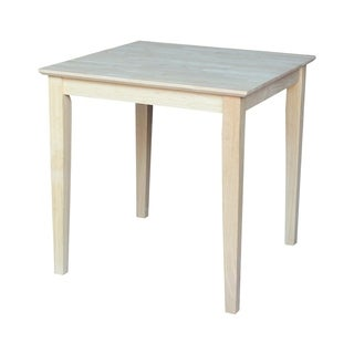 30-inch Unfinished Shaker Style Parawood Square Dining Table