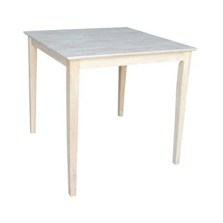 Unfinished Square Counter Height Parawood Shaker-style Dining Table
