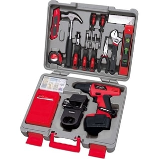 Apollo 155 Piece Household Tool Kit with 12 V Cordless Drill