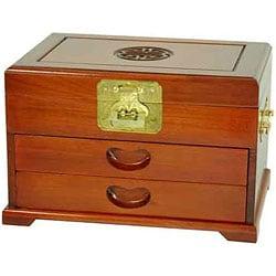 Merbu Wood Two-drawer Oriental Jewelry Box (China)
