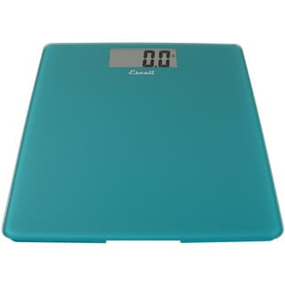 Escali Glass Platform Peacock Blue Digital Bathroom Scale