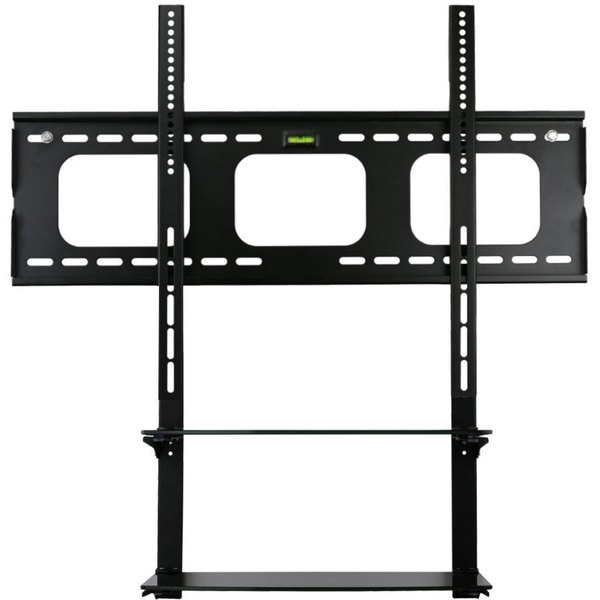 Mount-It! Black, Low Profile, Universal TV Wall Mount with Built-in Shelving Unit for 60-inch Max LCD/ LED/ Plasma Screens 13718264