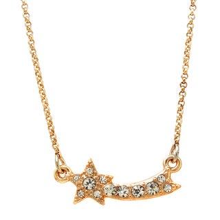 Crystal Shooting Star Pendant Necklace
