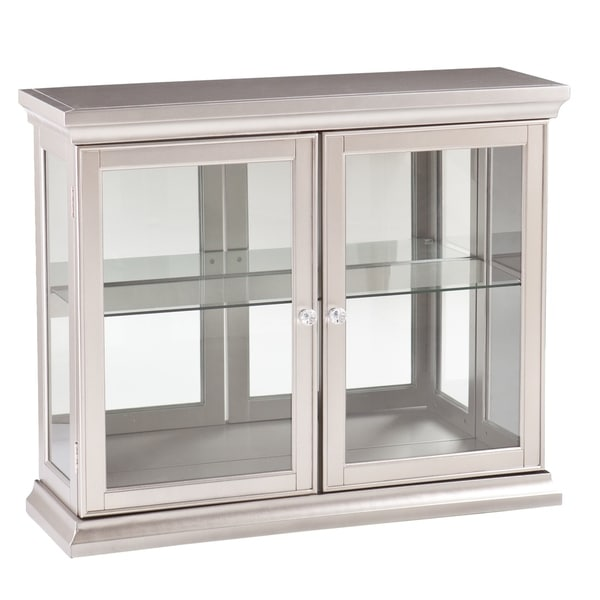 Upton Home Bordeaux Silver Double Door Cabinet
