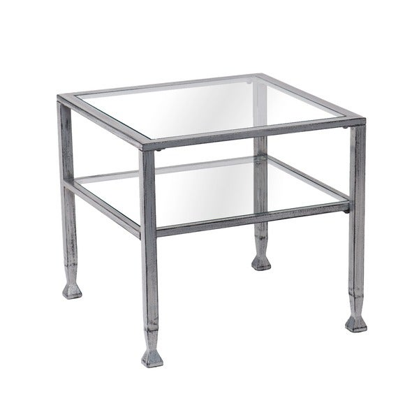 Silver Metal And Glass Coffee Table: Upton Home Silver Metal And Glass Cocktail Table