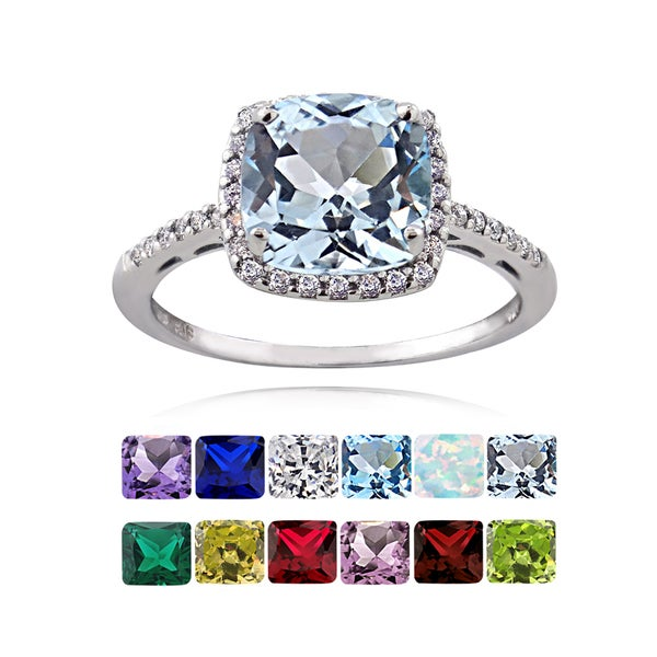 glitzy rocks sterling silver gemstone or cubic zirconia