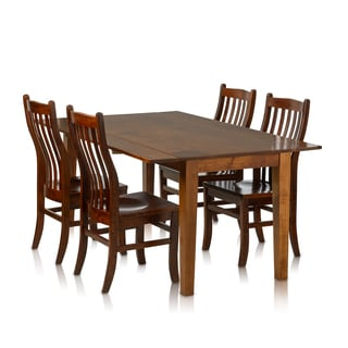 Christopher Knight Home Solid Maple Drop-leaf Rectangle Table and Side Chairs (5-piece set)
