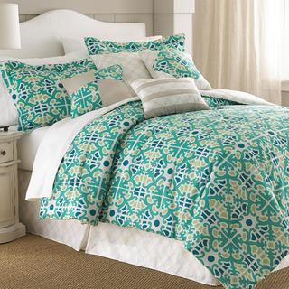 Natasha Green Floral Medallion 8-piece Comforter Set
