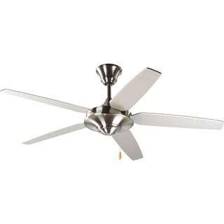 Progress Lighting Airpro Brushed Nickel 54-inch 5-blade Energy Star Fan