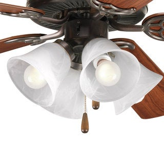 Progress Lighting Airpro Antique Bronze 4-light Ceiling Fan Light