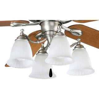 Progress Lighting Renovations Collection 4-light Antique Nickel Ceiling Fan Light
