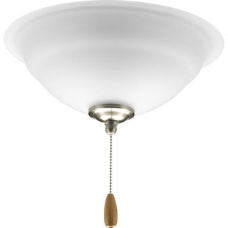 Progress Lighting 3-light Brushed Nickel Ceiling Fan Light