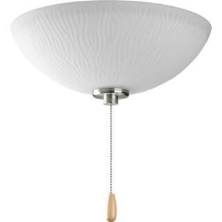 Progress Lighting Brushed Steel 3-light Ceiling Fan