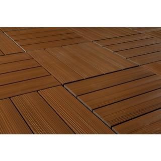 "Kontiki Teak Composite Interlocking QuickDeck Tiles (12"" x 12"")"