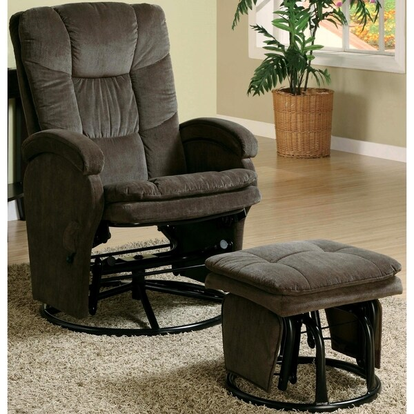 Vinson Swivel Glider Recliner Ottoman Set
