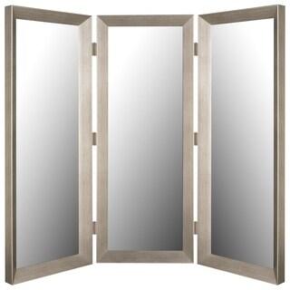 Baroni Silver Grande Framed Wall Mirror