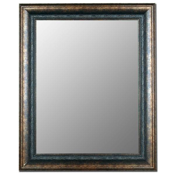 Milano Bronzed Black Framed Wall Mirror 13720258