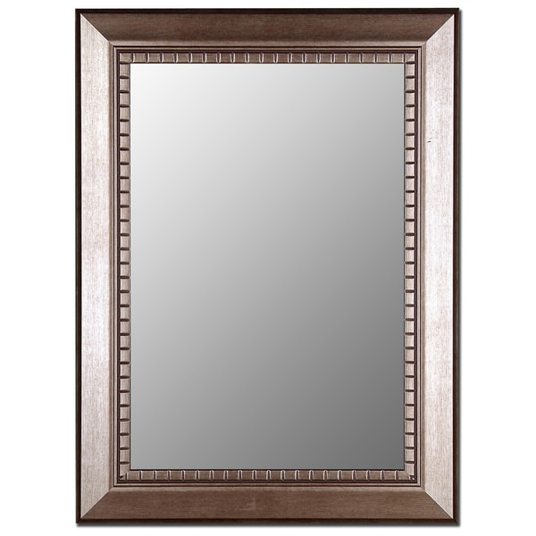 Olde English Antique Silver Framed Wall Mirror