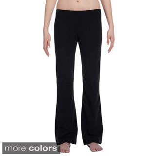 Women's Cotton/ Spandex Blend Fitness Pants