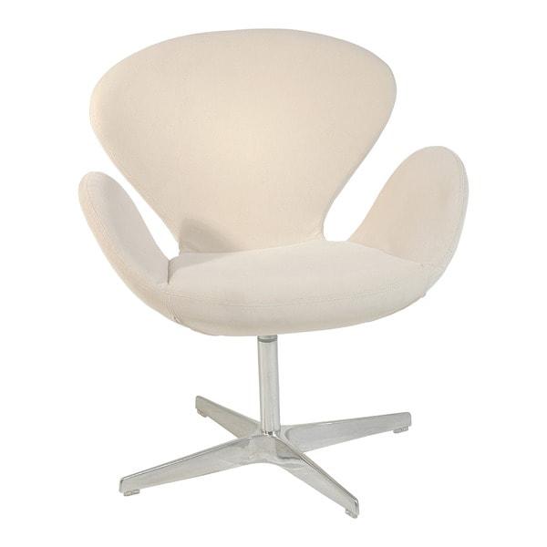 Cream Fabric Flower Armchair
