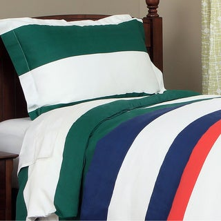 Simple Elegance Cabana Boys Striped 600 Thread Count 3-piece Duvet Cover Set