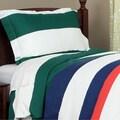 Cabana Boys Striped 600 Thread Count 3-piece Duvet Cover Set