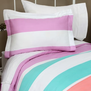 Simple Elegance Cabana Girls Striped 600 Thread Count 3-piece Duvet Cover Set