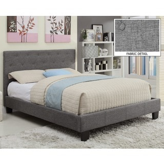Sutton Tufted Linen Platform Bed