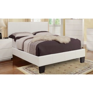 Astro Coffee Finish Faux Leather Platform Bed