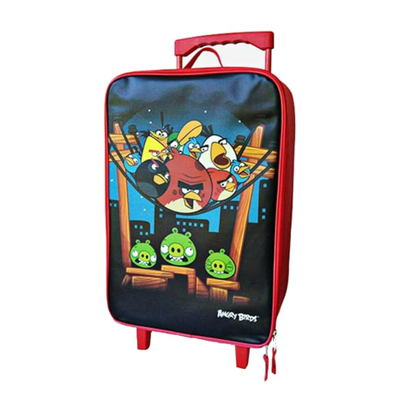 Angry Birds 16-inch Kids Rolling Upright Suitcase