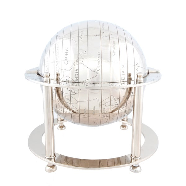 Decorative Aluminium Globe and Stand