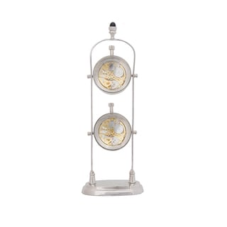 Brass Double Clock Decorative Accent Piece