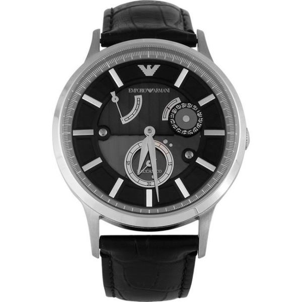 Emporio Armani Mens' AR4664 Meccanico Leather Automatic Watch