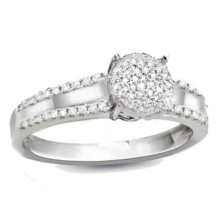 Sterling Silver 1/4ct TDW White Diamond Promise Ring (G-H, I2-I3)