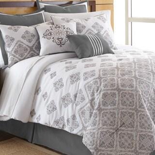 Salina White 8-piece Comforter Set