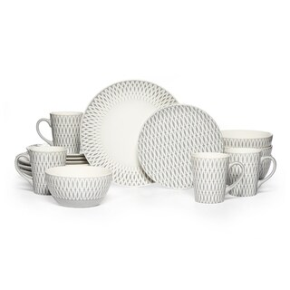 Gourmet Basics by Mikasa Aurora 16-piece Stoneware Dinnerware Set