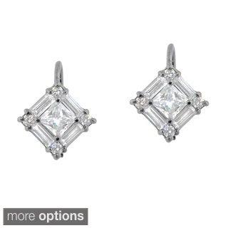 Sterling Silver Multi Cubic Zirconia Earrings