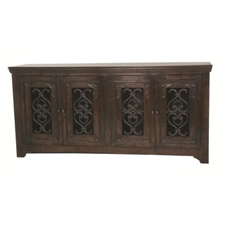 Mirage Hand-carved Kiln Dried Acacia Wood 4-door Buffet