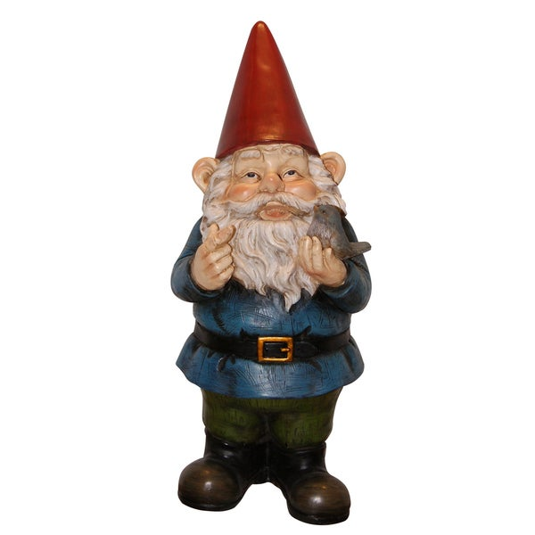 Charming Garden Gnome in Red, Green and Blue