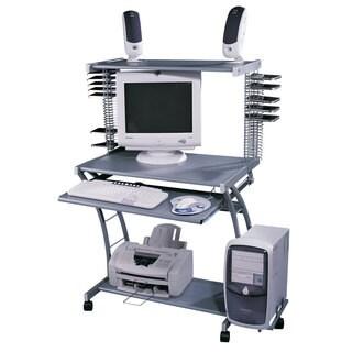 Silvertone Metal Multi-purpose Computer Desk/ Work Station