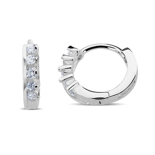 Sterling Silver Cubic Zirconia Loop Cuff Earrings