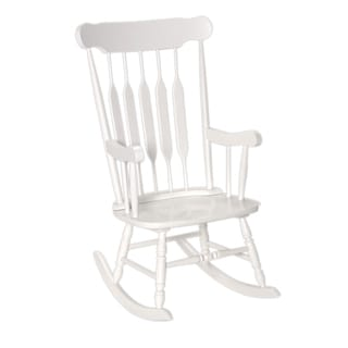 Gift Mark White Finish Adult Rocking Chair
