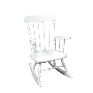 Gift Mark Home Deluxe Child-size White Spindle Rocking Chair