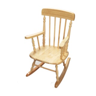 Gift Mark Home Deluxe Child-size Natural Spindle Rocking Chair