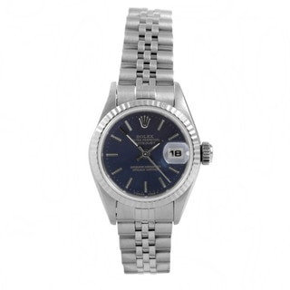 Pre-Owned Rolex Women's Datejust Stainless Steel Blue Automatic Watch